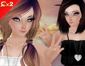 Two avatars posing